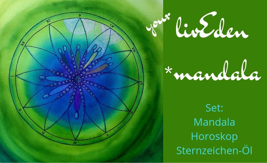 02 livEden *mandala Set + Sternzeichen-Aromaöl